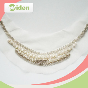 Customer's Design Welcomed Wholesale Fancy Beaded French Lace Border