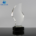 Best Selling Unique Design Glass Trophy For Custom Text Engraving
