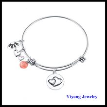 China Fashion Stainless Steel Charm Bangle