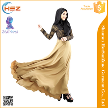 Zakiyyah MD022 Latest abaya models dubai Muslim clothing 2017 Fashion long sleeve abaya indonesia