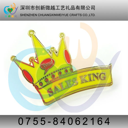 King Crown lapel pin badge