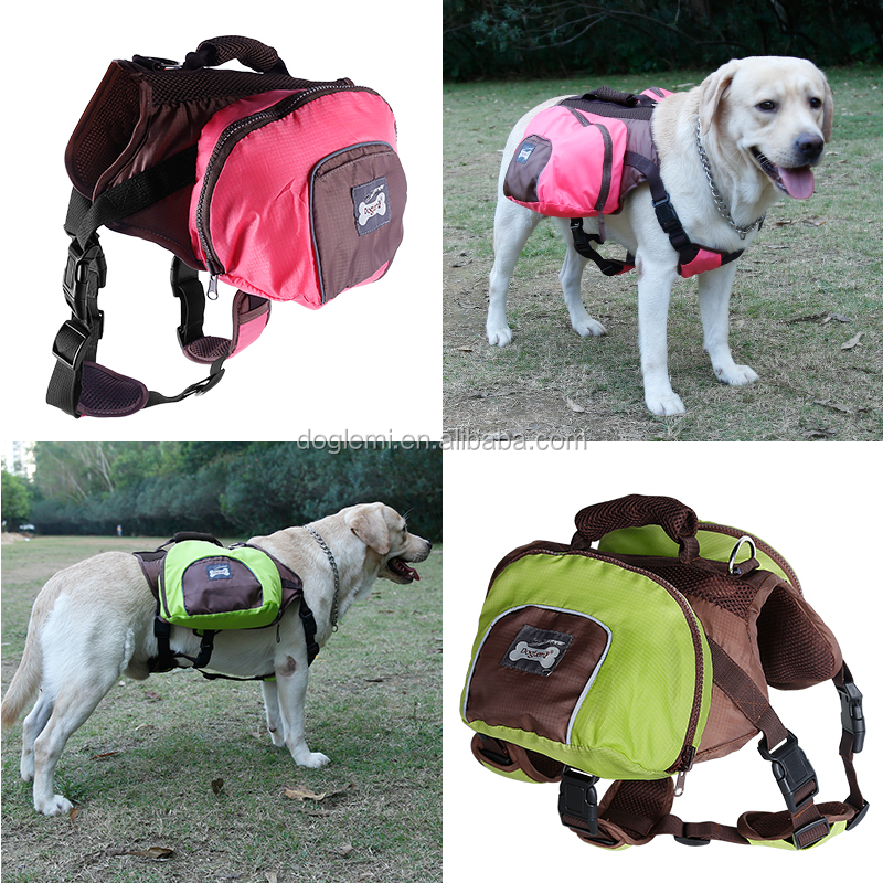 Foldable Pet Saddle Bag Outward Hound Travel Camping Hiking Dog Back Pack