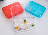 9*6.5*2cm 6 compartments plastic 7 day pill organizer