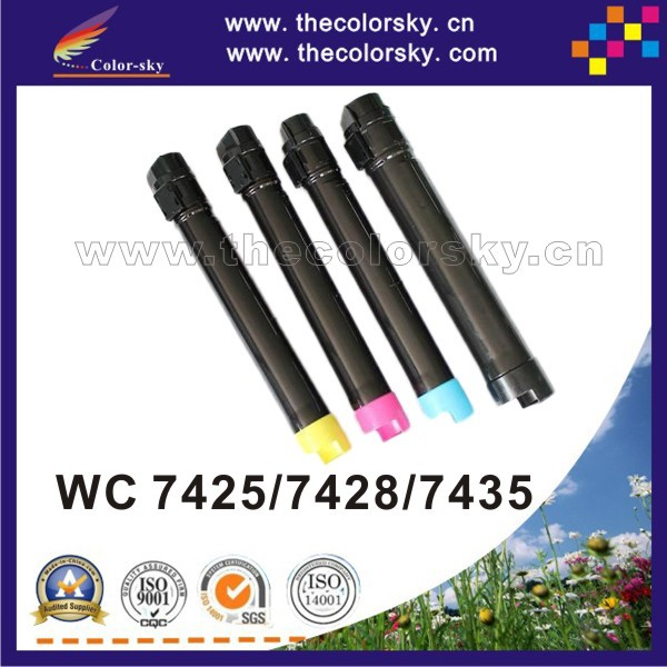 (CS-XWC7425) compatible toner cartridge for Xerox WorkCentre 7425 7428 7435 006R013795 - 006R013798 kcmy 25k/15k