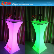remote control bar table with glass top/ led lighting tables for bar