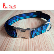 wholesale custom adjust dog collar, silk print custom pattern