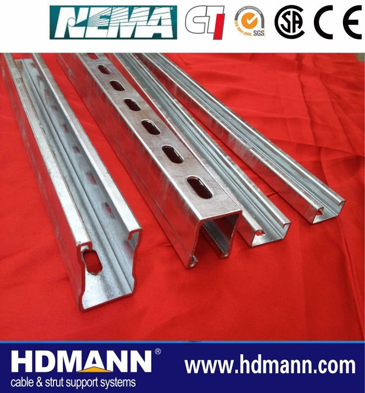 iron steel slotted channel cable tray sizes