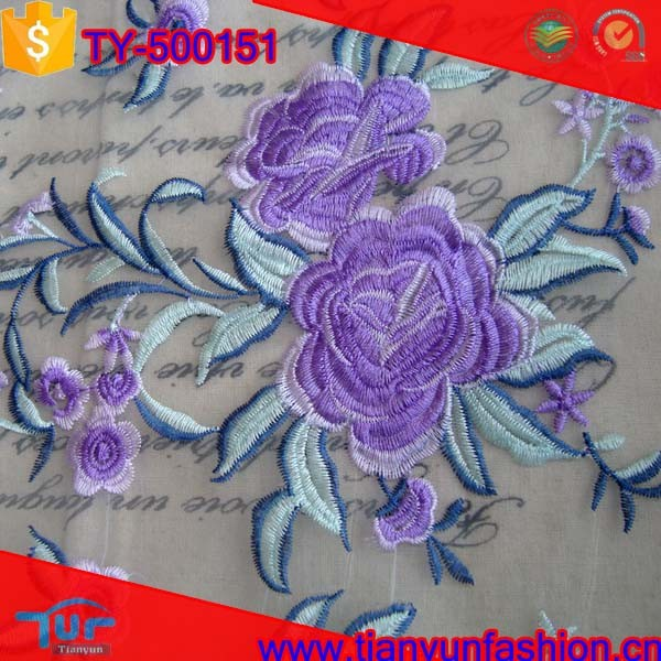 elegant patchwork woven fabric high quality emboridery newest organza fabric