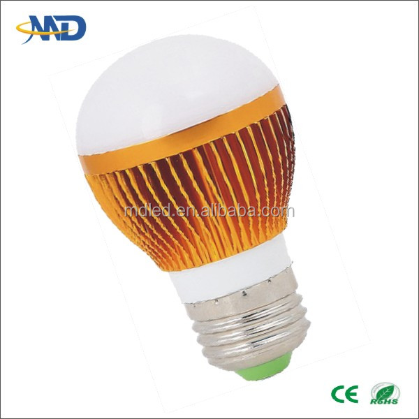 3w LED ball lamp E26 E27 E14 B22 bulb 90-277V or DC12V hot sale led bulbs qualified
