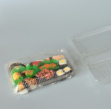 blister Hinged / Clamshell lid container,disposable food packaging sushi container