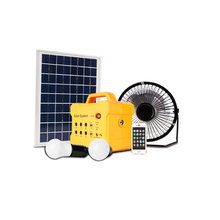 Smart House, 15W Smart Solar System Kit with Enery Saving Led Lights and High Efficiency Solar Panel
