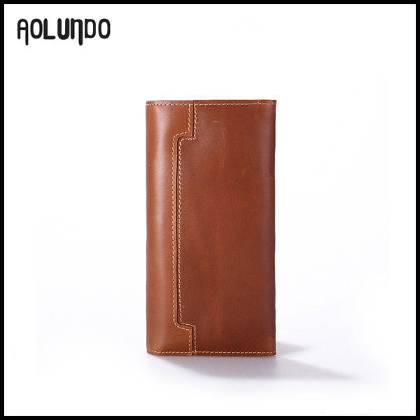 Top quality wholesale young cowhide men leather purse for wholesale