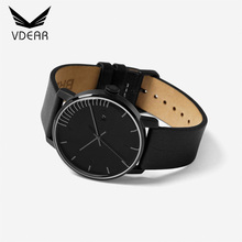 Vogue calf leather women's watches brand luxury fashion watches women lady with day