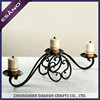 3 arm antique decorative arborescence wrought iron candle holder