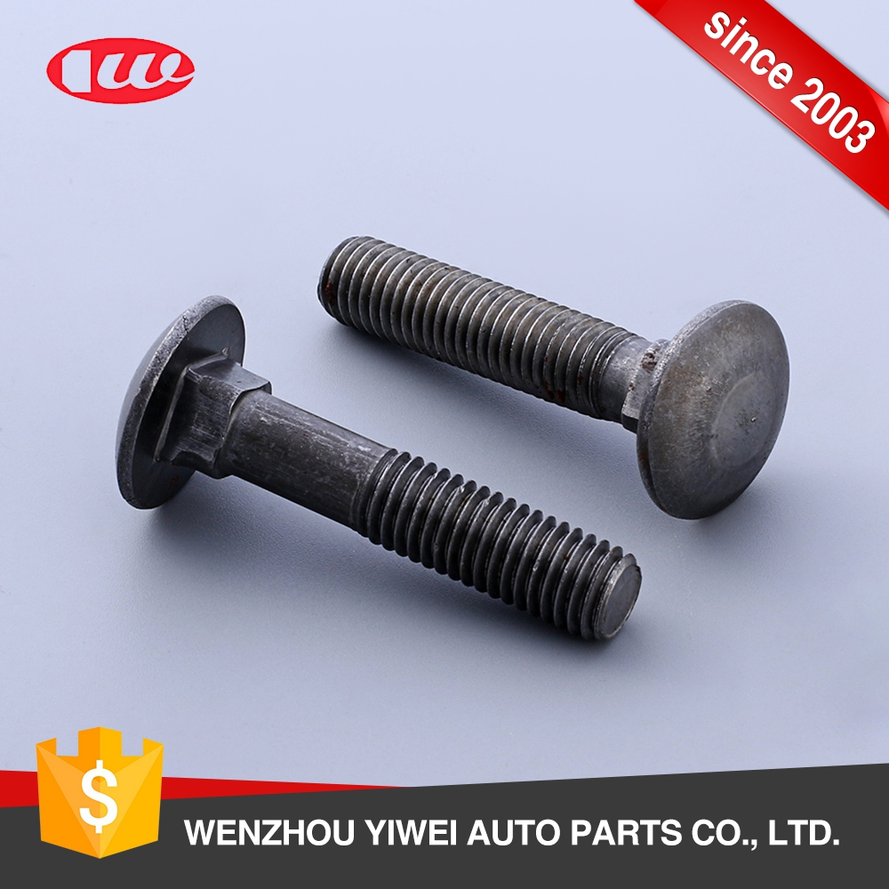 Excellent quality black carbon steel round head carriage bolt