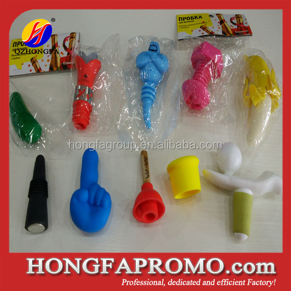 Animal shape silicone wine stopper,cheap wine bottle stopper food grade silicone