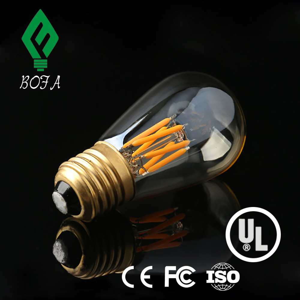 New product 2016 innovative led dimmable filament bulb st64 6w led light for home lighting