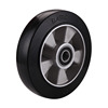 Black elastic rubber aluminium rim wheel