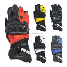 GP PRO para-aramid Internal lining cow leather motorcycle gloves with TPU knuckle protection
