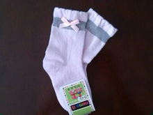 lace socks with brand name and tag