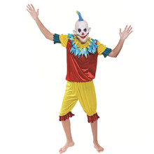X-MERRY TOY Whoelsale Halloween Funny Clown Costumes Sets Adult Size Costumes
