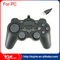 Black color double shock joypad usb joystick
