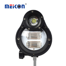 Meikon Professional camera flash light Underwater waterproof led flashing light for Canon/nikon/sony waterproof case