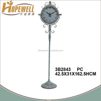metal garden clock , antique decoration stand up clock