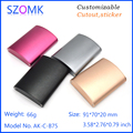 custom anodized extruded aluminum enclosure boxes
