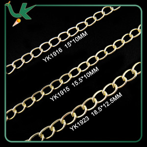 High Quality Silver and Golden Plated Aluminium Chain for Handbag and Jewelry