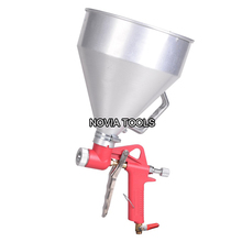 Alum. cup Air Hopper Spray Gun 1.45 Gallon Ceiling Wall Texture Paint Drywall Painting Sprayer B001