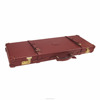 Guangzhou OEM customize deluxe handmade shotgun trunk case wooden leather gun case