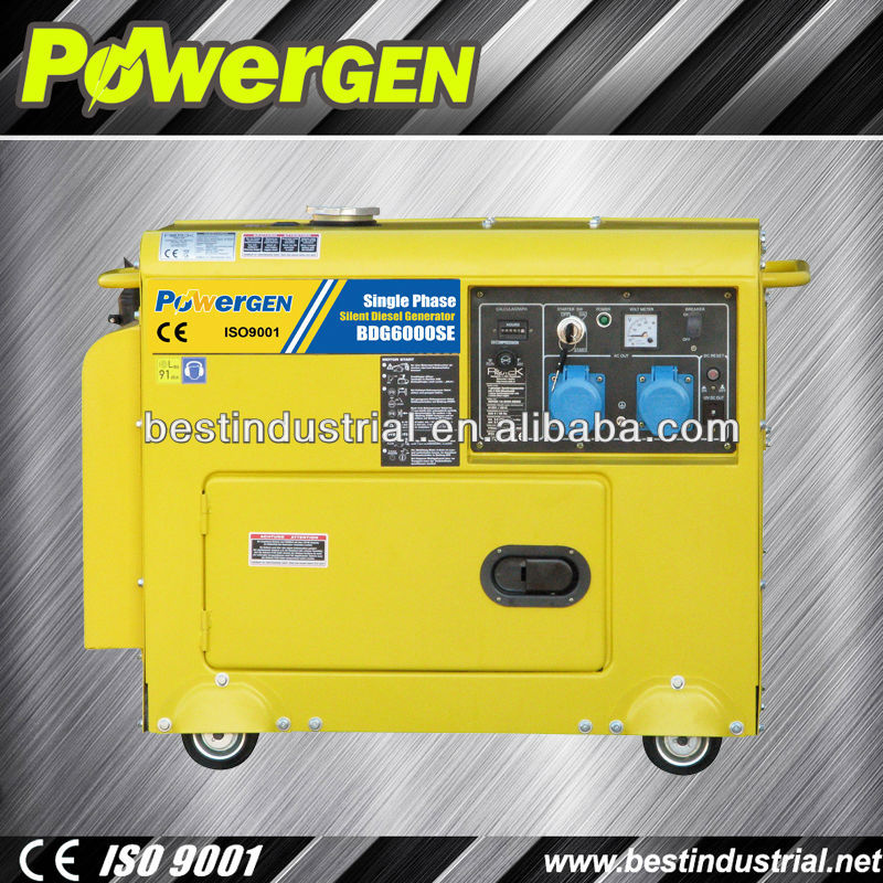 Power Gen Manufacturer 5KW-6KW robust Diesel Generator For Sale
