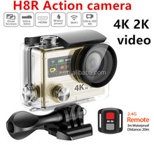 2016 new sport camera H8R sport action camera 4k remote