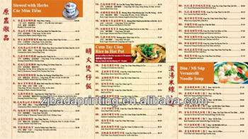 Concise Food Or Beverage Menu