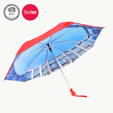double canopy two layers light weight aluminum frame 3 fold umbrella