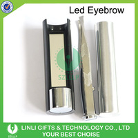 Hot Selling Logo Cheap Mini Glow Eyebrow Tweezer