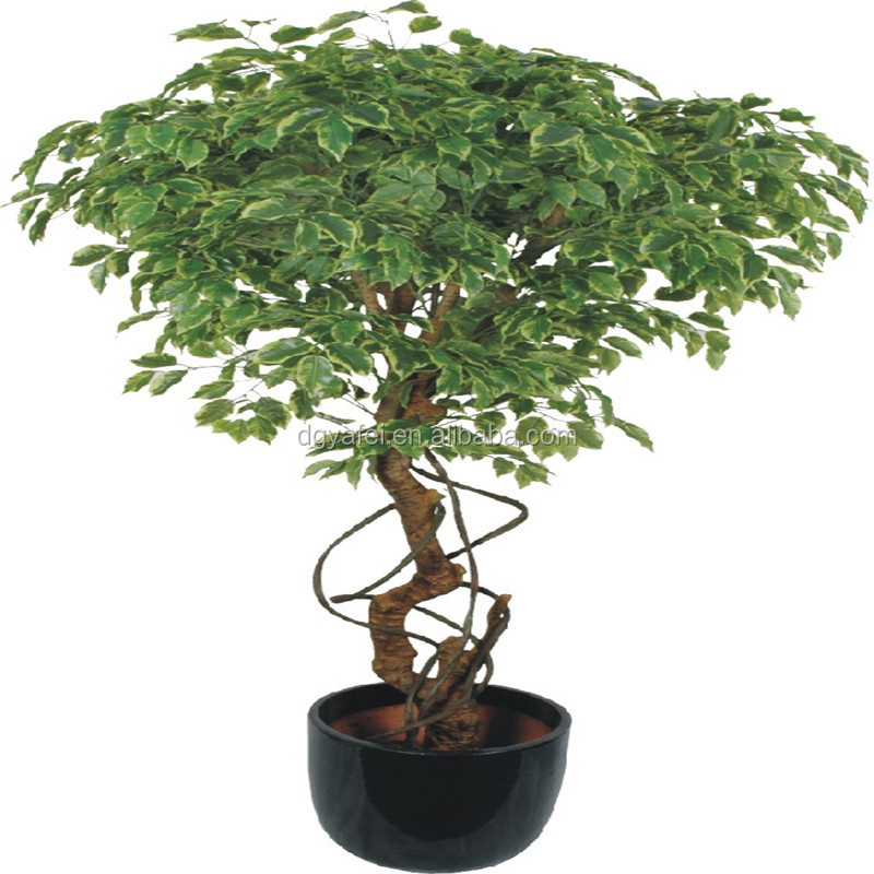 Customeized artificial fake banyan tree bonsai decoration for shop/home/wedding make inDongguan