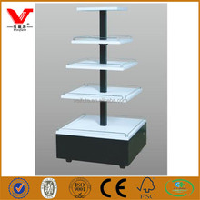 New design shop shelf display cosmetic table, store counter table design