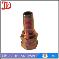 Low Price 60 Deg Flexible Hose Joints With Hexagon Head , Withhold Type Pipe Connector , Hydraulic Hose Barb Fittings