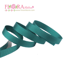 Best price woven petersham bulk green ribbon