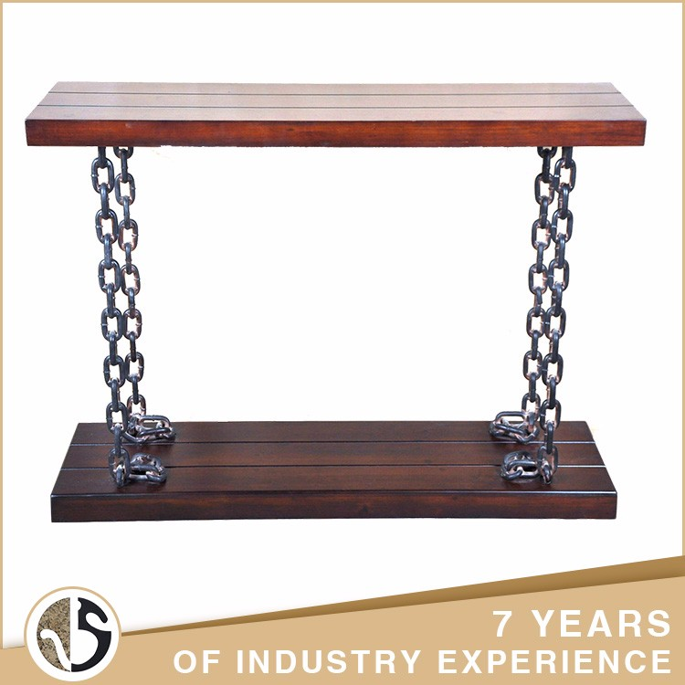 retro dark cherry tabletop wood chinese contemporary console table
