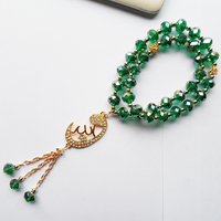 Malachite Green Crystal Muslim Accessories Tasbih