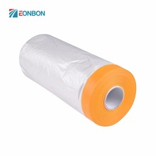 Free Samples PE Film Large Area Self Adhesive Protection Auto Plastic Pretaped Airbrush Masking Film