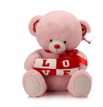 2015 new wholesale cute LOVE pink teddy bear pictures