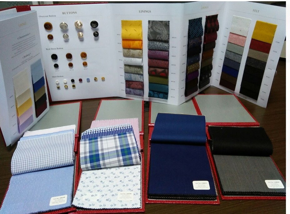 2016 New Arrival Luxury Fabric Swatch Books For Custom Made Suits and Shirts