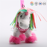 China custom soft and cute dog plush stuffed toy bags/custom made bags china