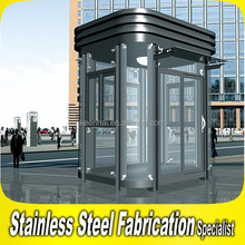 Custom Made Circular Outdoor Stainless steel Prefab Booth for Security Guard