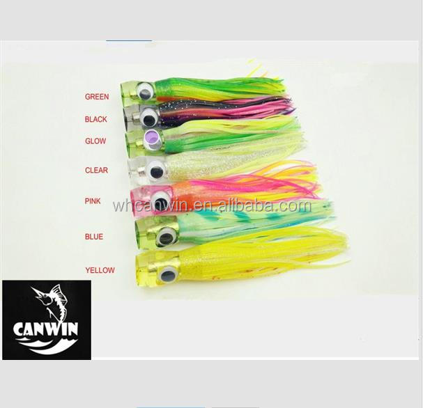 Canwin Sea Big Game Trolling Fishing Lure Double Octopus Skirt Tuna Marlin Big Lure Abalone Resin Jet Head Lure