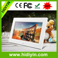 Hot sale 7 inch plastic digital photo frame,HD digital picture/video player for promotion activities